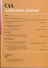CAA Arbitration Journal IV