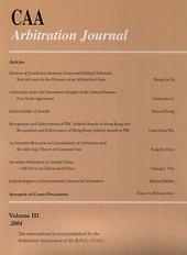 CAA Arbitration Journal III