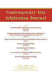 CONTEMPORARY ASIA ARBITRATION JOURNAL